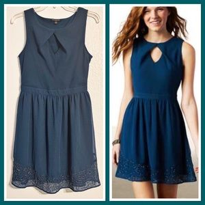 American Eagle Beaded Keyhole Dress Fully Lined